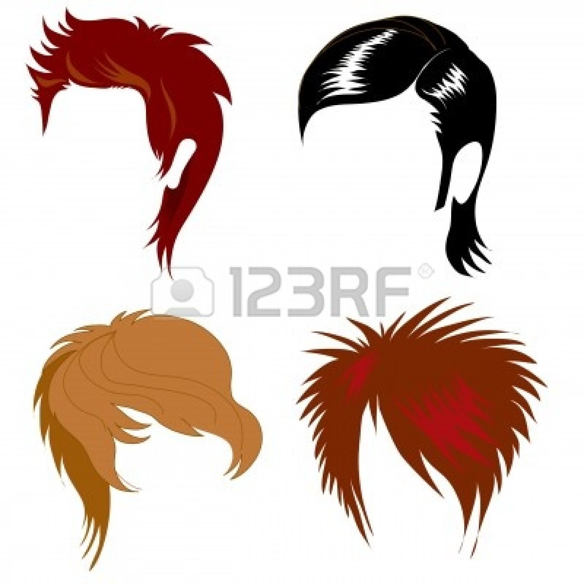 Hairstyles Clipart : hairstyles-clip-art-5072367-set-of-hair-styling-for-man.jpg