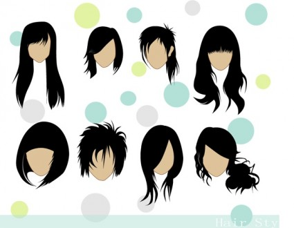Hairstyles Clipart : Hairstyle Clip Art Free Clipart Panda - Free Clipart Images