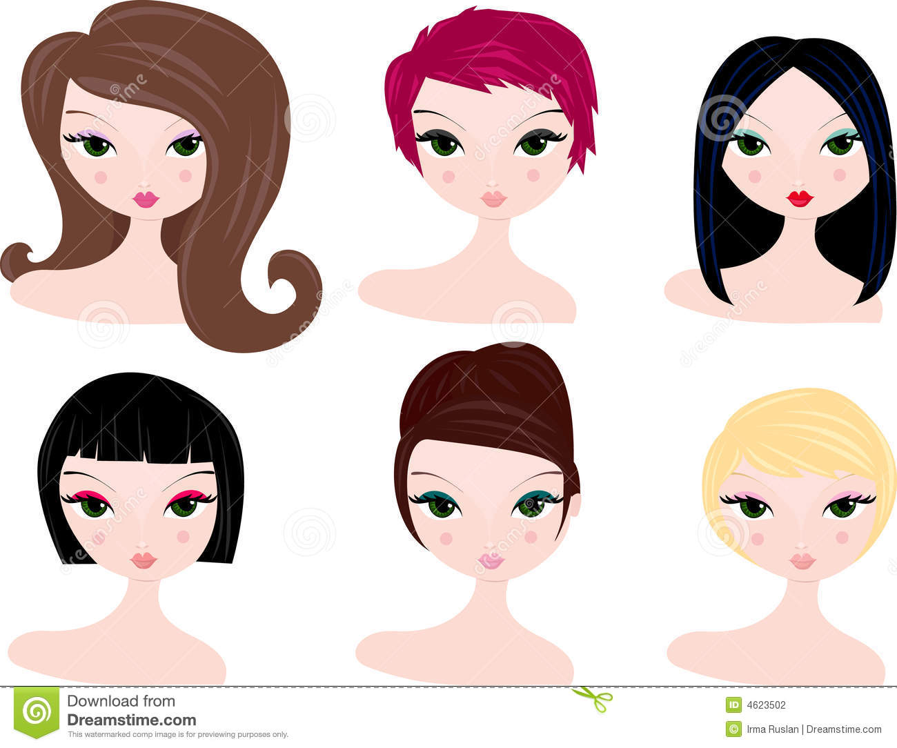free clipart hairstyles - photo #1