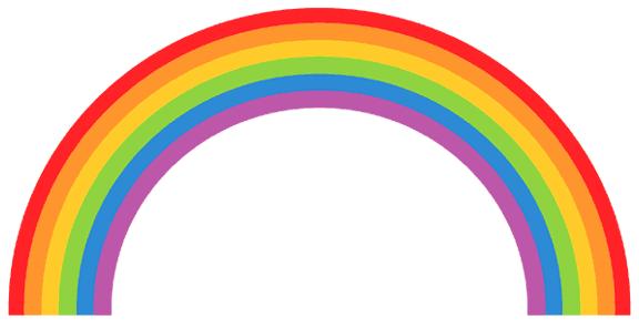 clipart panda rainbow - photo #13