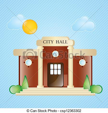 City Hall Cartoon Drawing
