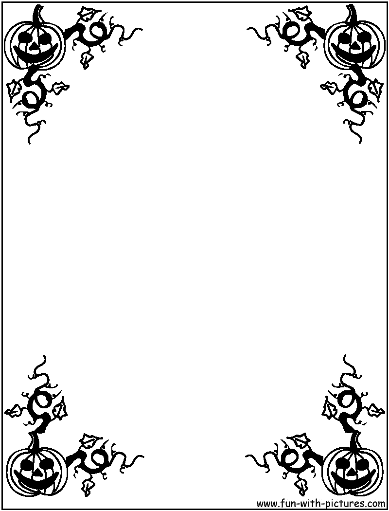 Halloween Border Black And White