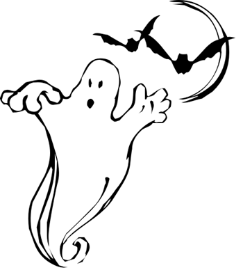 White ghost and bats c...