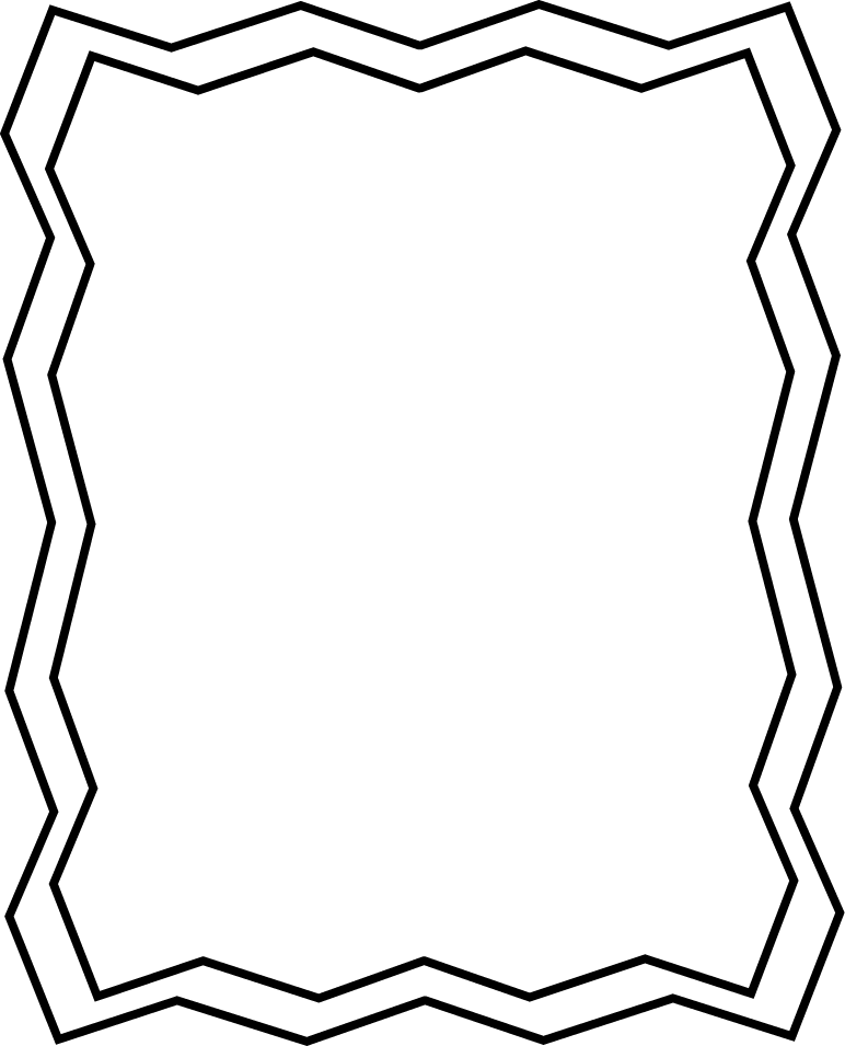 black and white school border clip art