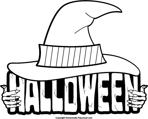 Halloween Clipart Black And White | Clipart Panda - Free ...