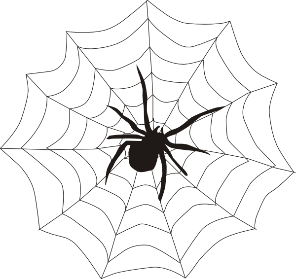 Halloween hanging spider clipart clipart panda free - Spider outline clip art ...
