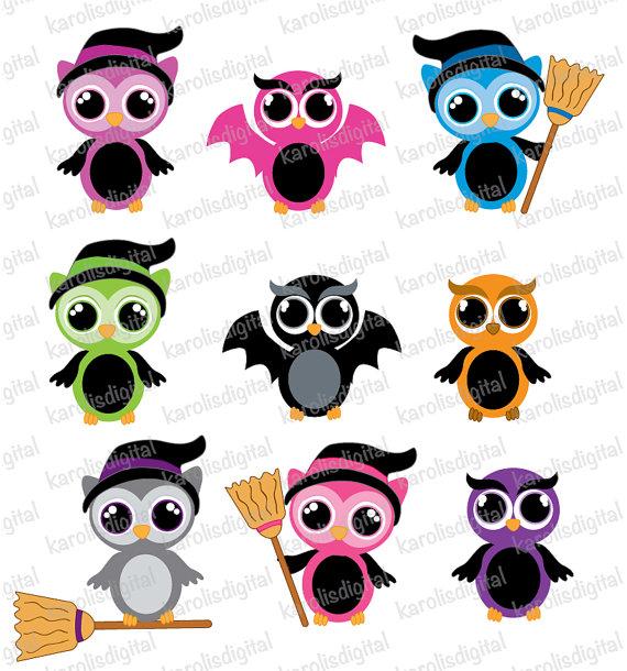 halloween owls clip art set clipart panda free clipart images rh clipartpanda com  halloween owl images clipart