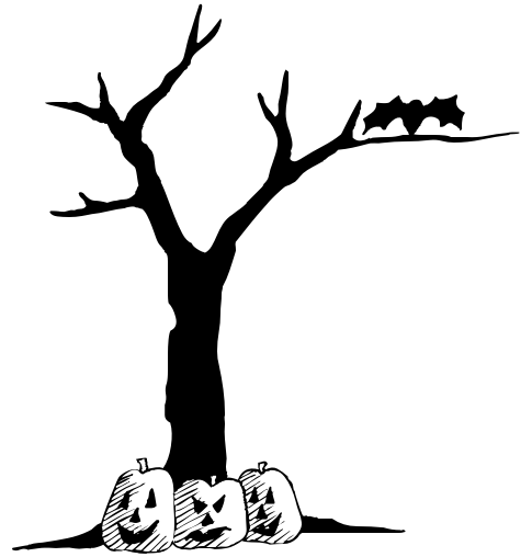 halloween20tree20clipart - Black Halloween Tree