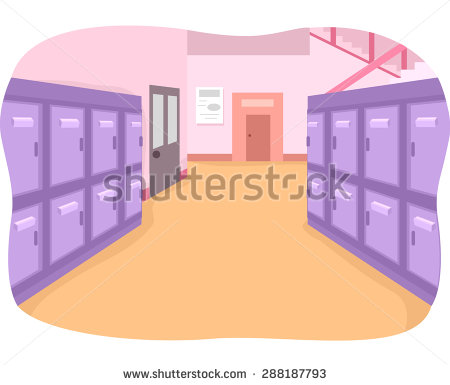School Hallway Clip Art