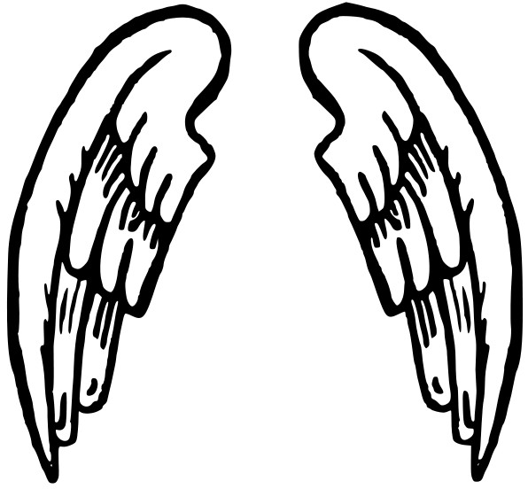 free angel wings with halo clip art - photo #10