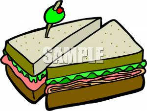 Ham Sandwich With Lettuce And | Clipart Panda - Free ...