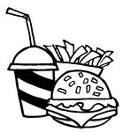 hamburger%20clipart%20black%20and%20white