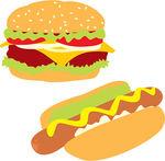 Image result for hamburger and hot dog clip art