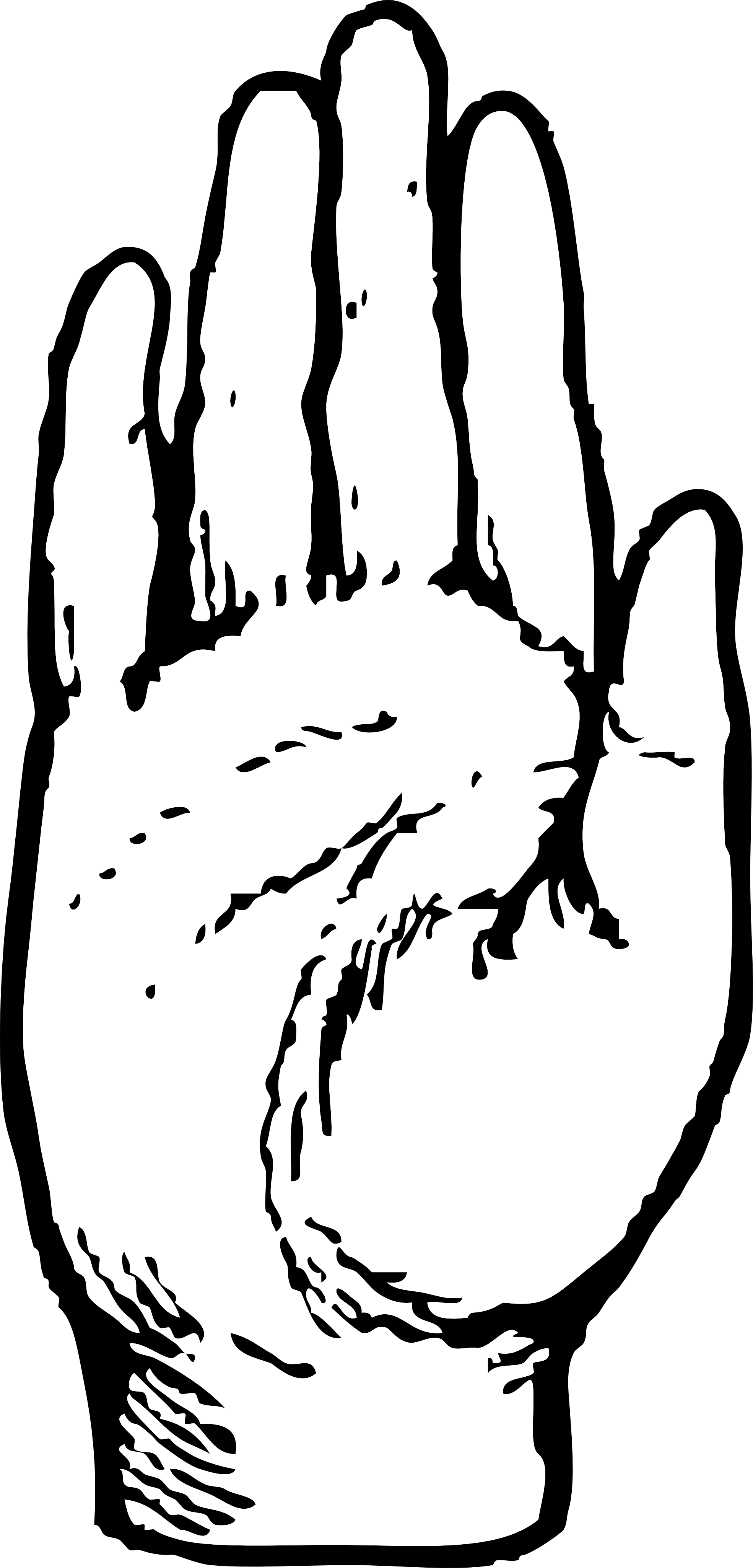 Two Hands Clipart Black And White | Clipart Panda - Free ...