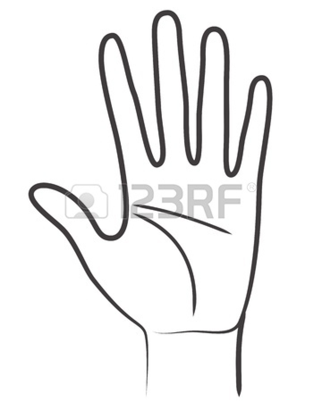 Line Art Hand : Open hand outline clipart panda free images
