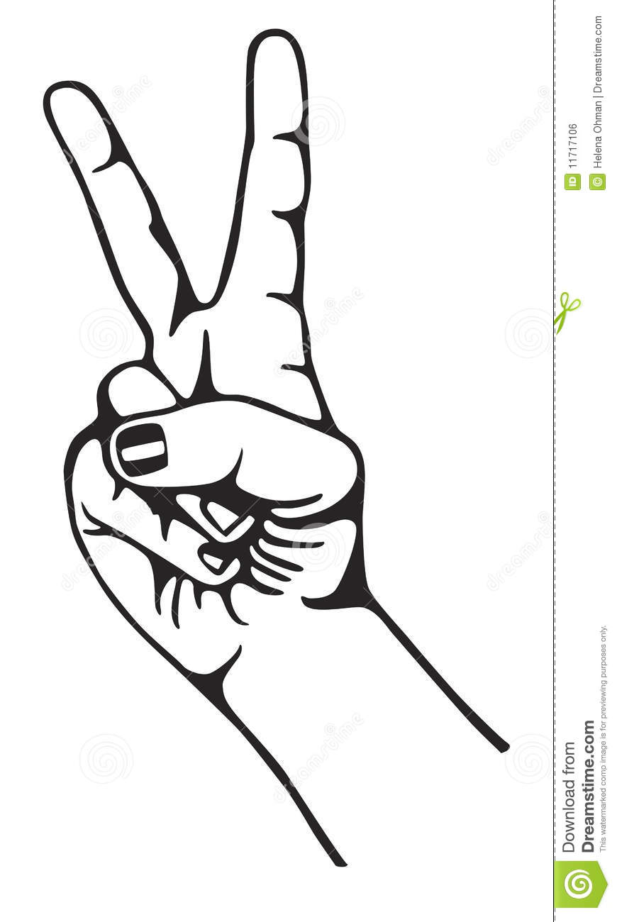 hand peace sign symbol clipart panda free clipart images
