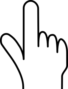 Hand Pointing Clipart Black And White | Clipart Panda ...