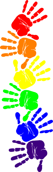 Handprint Clipart Border on Preschool Color Green