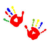 Handprint Heart Clipart Paint Clipart For Kids...