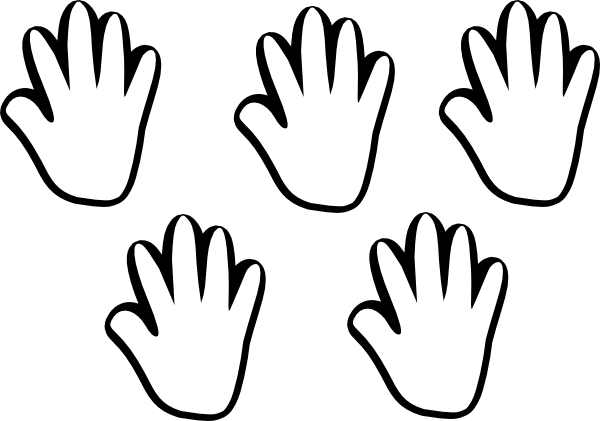 Handprint Clipart Black And White Clipart Panda Free
