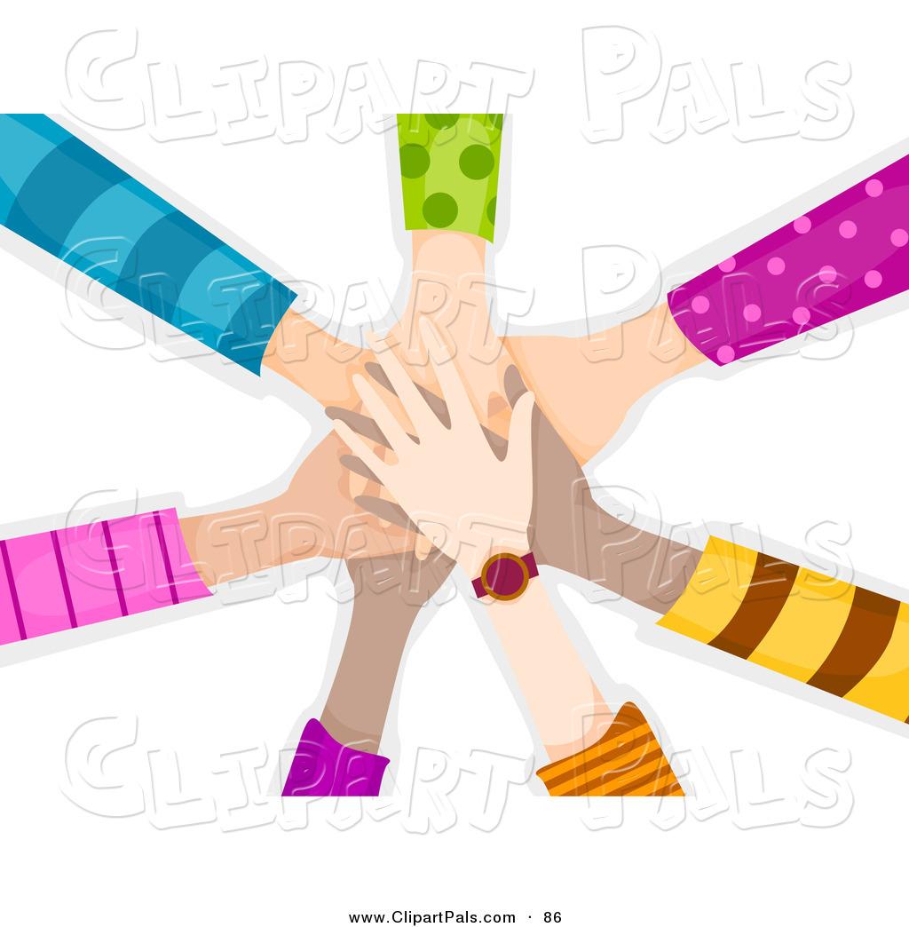 Team huddle clipart