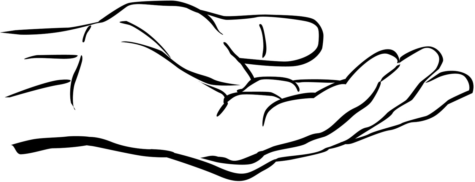 Hands Clipart Black And White | Clipart Panda - Free ...