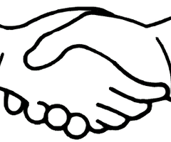 Clip Art Handshake Kids