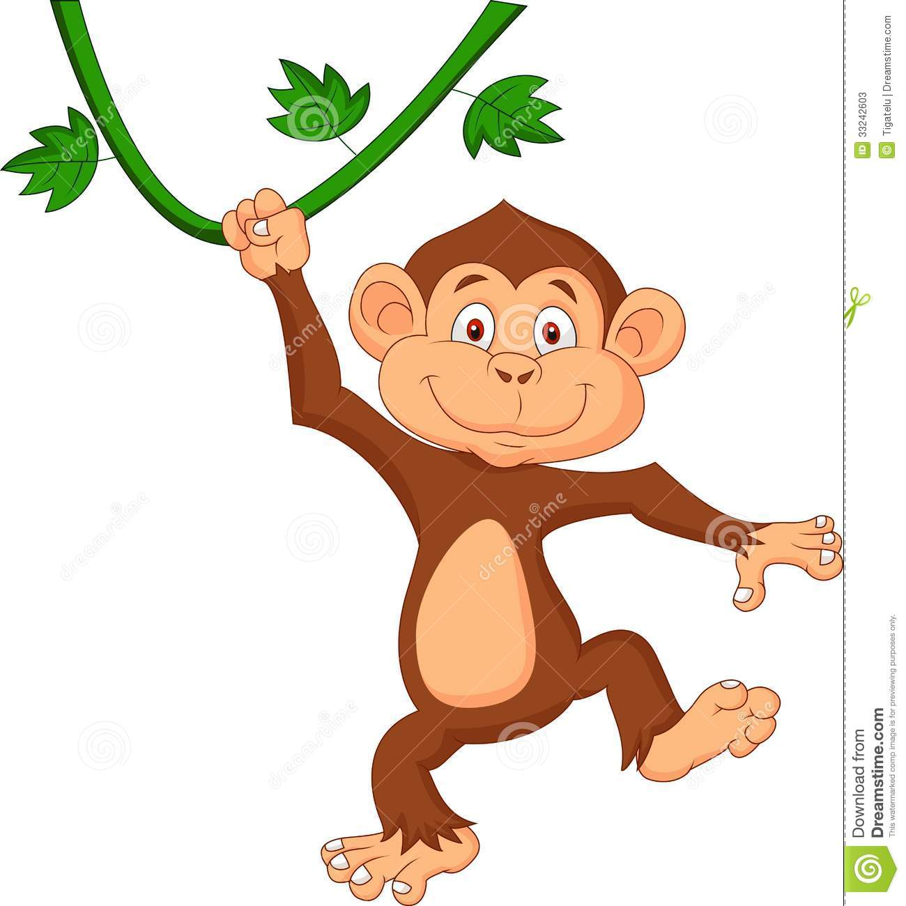 clipart monkey hanging from tree - photo #9