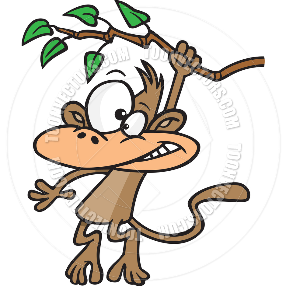 Images for simple cartoon monkey hanging - Clipart Info