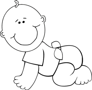 Baby Monkey Clipart Black And   Clipart Panda - Free Clipart Images