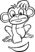 hanging%20monkey%20clipart%20black%20and%20white