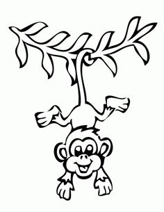 monkey trees coloring pages printable monkey