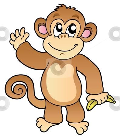 -monkey-template-cutcaster-photo-100913746-Cartoon-waving-monkey ...
