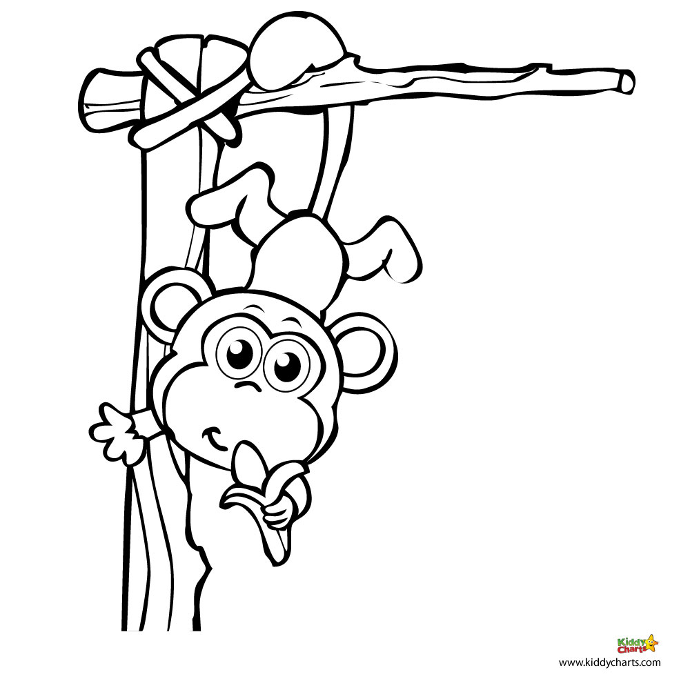 top 25 printable monkey coloring pages for kids