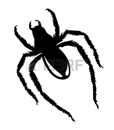 vector silhouette spider on | Clipart Panda - Free Clipart ...