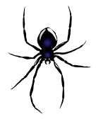 Hanging Spider Silhouette | Clipart Panda - Free Clipart ...