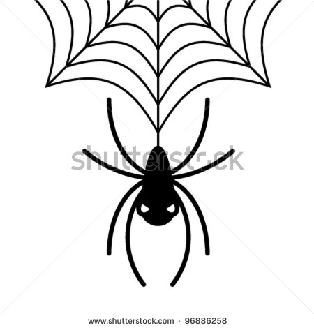 Hanging spider - stock vector | Clipart Panda - Free ...