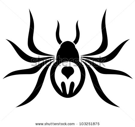 Spider. - stock vector | Clipart Panda - Free Clipart Images
