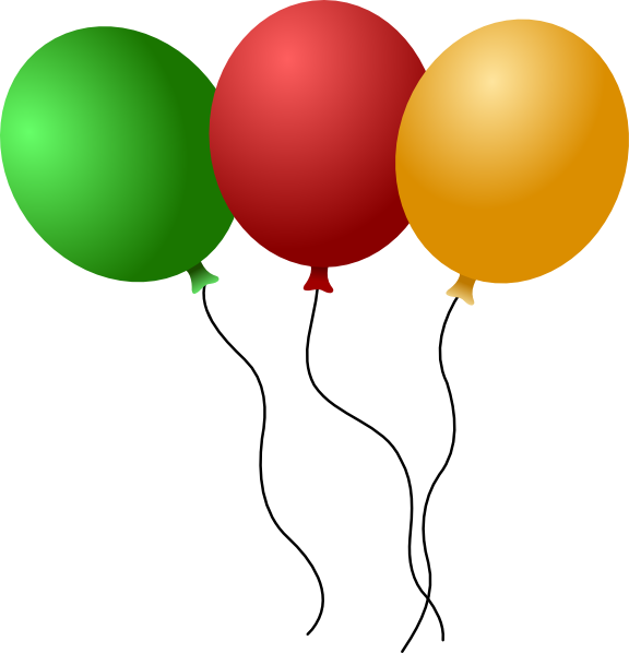 Happy Birthday Balloons Clipart