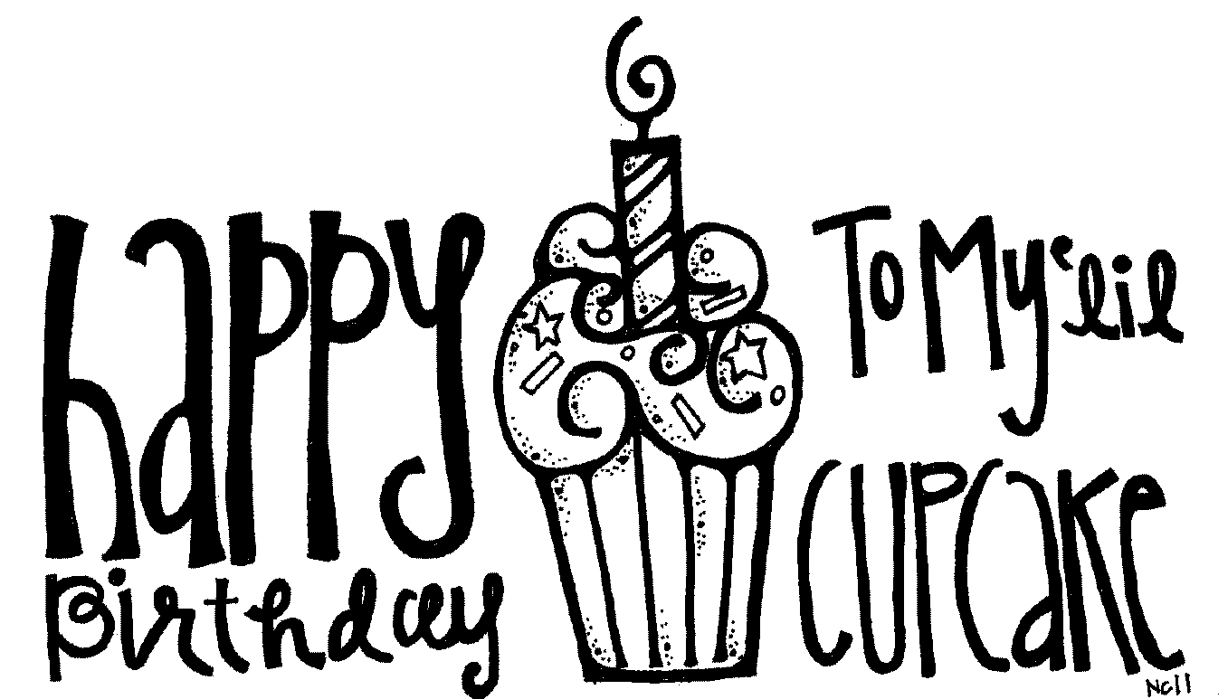 Happy Birthday Clipart Black And White | Clipart Panda ...