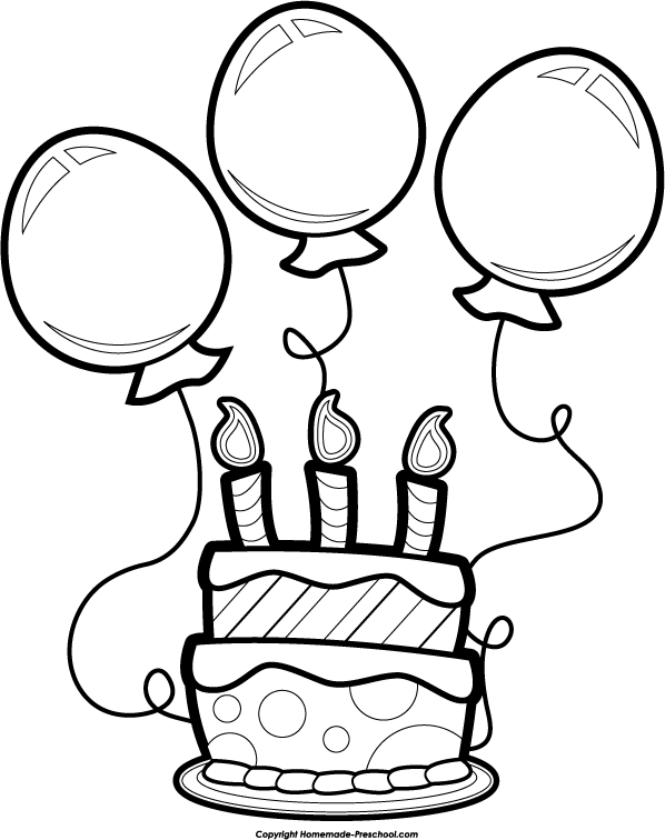 Clip Art Birthday Clip Art Black And White free black and white birthday clip art clipart panda free