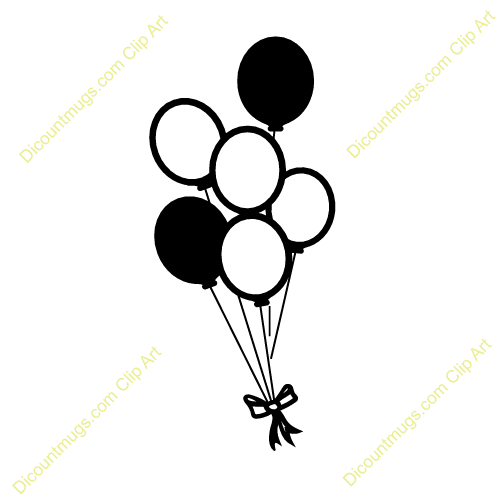 Birthday Balloons Black And