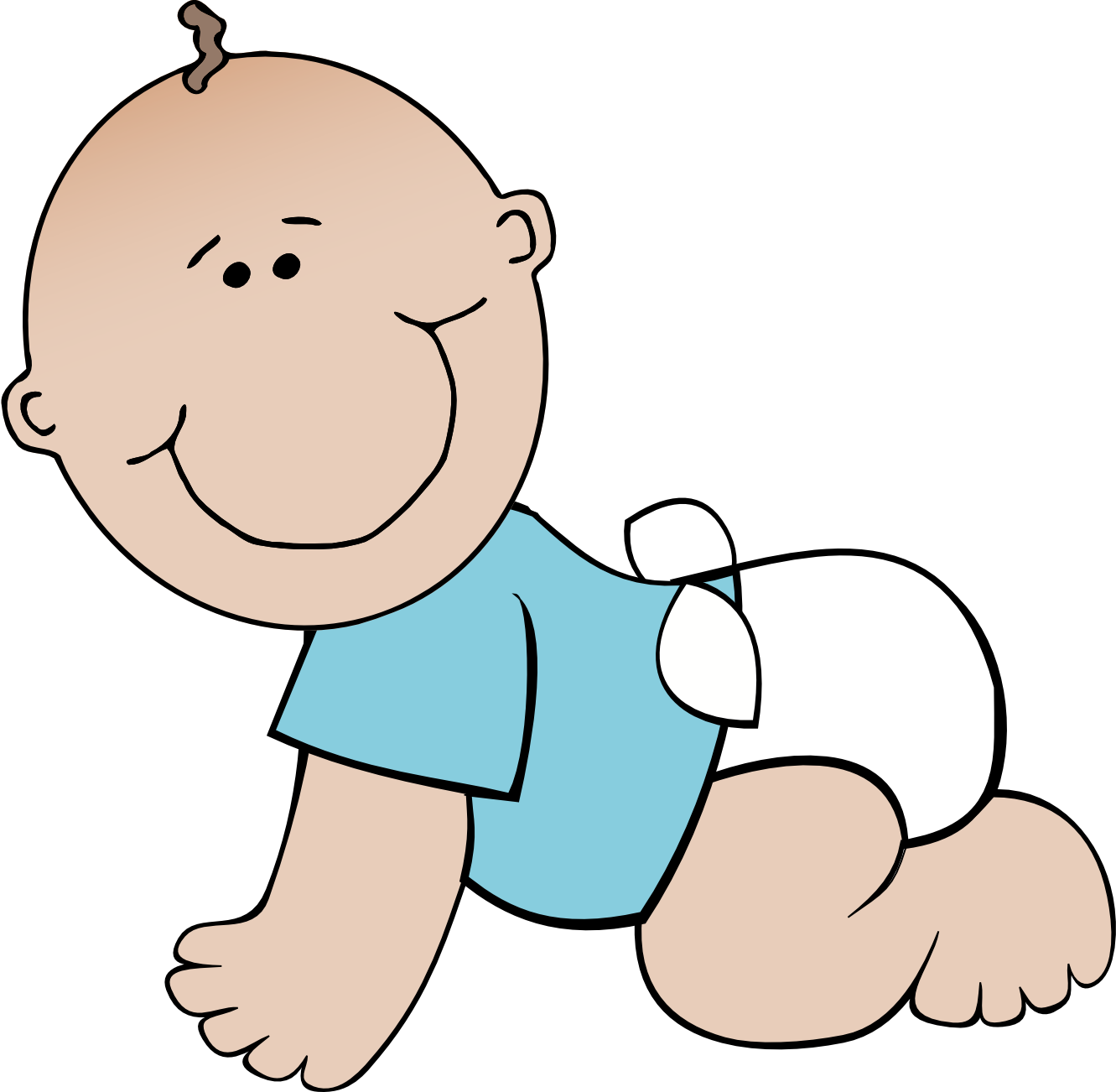 Line Art Baby : Happy boy clipart black and white panda free