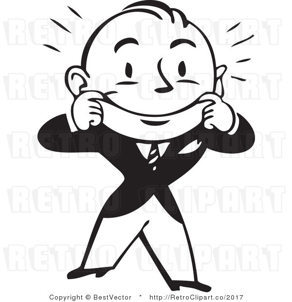 happy-clip-art-royalty-free-black-and-white-retro-vector-clip-art-of-a    Excited Person Clip Art Black And White