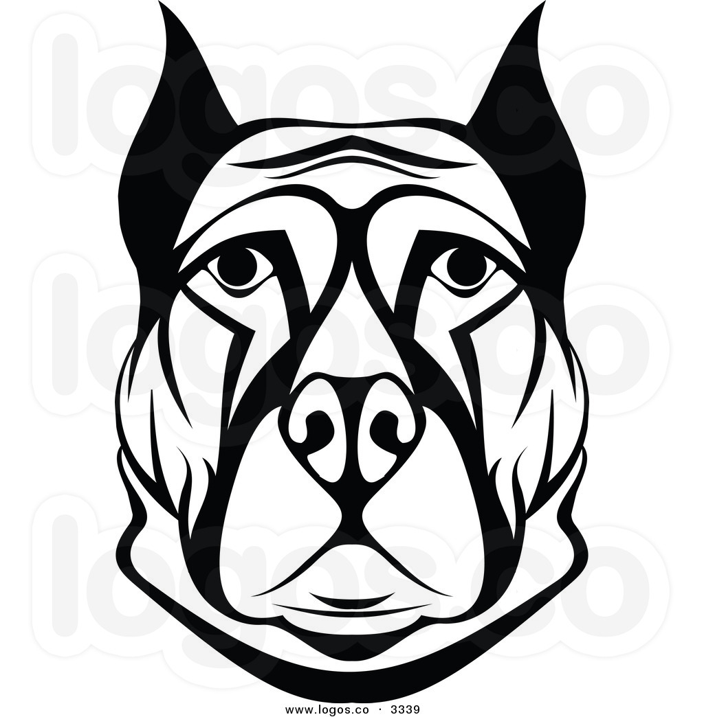 Dogs Black And White Clipart Dog Face Black And White