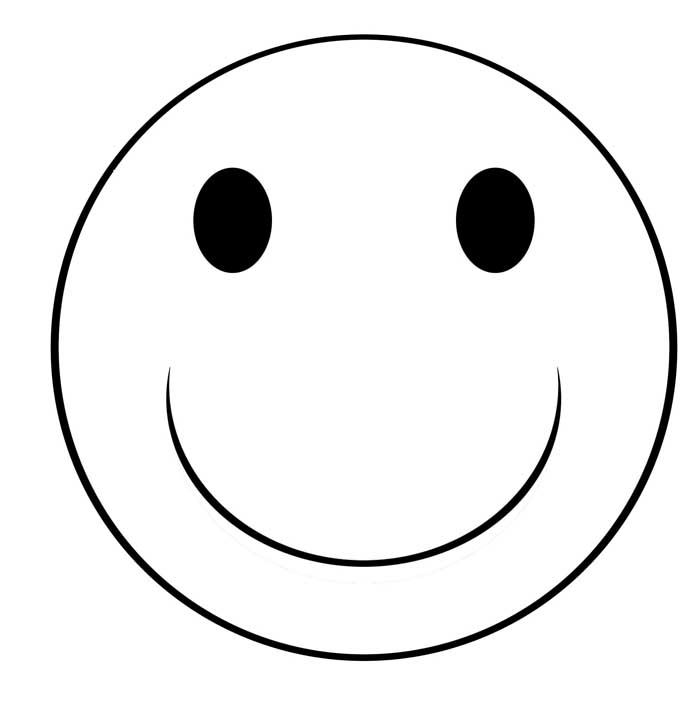 Smiley Face Clipart Black And White | Clipart Panda - Free ...