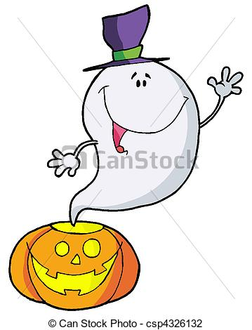 Vector Happy Ghost Pumpkin Clipart Panda Free Clipart Images