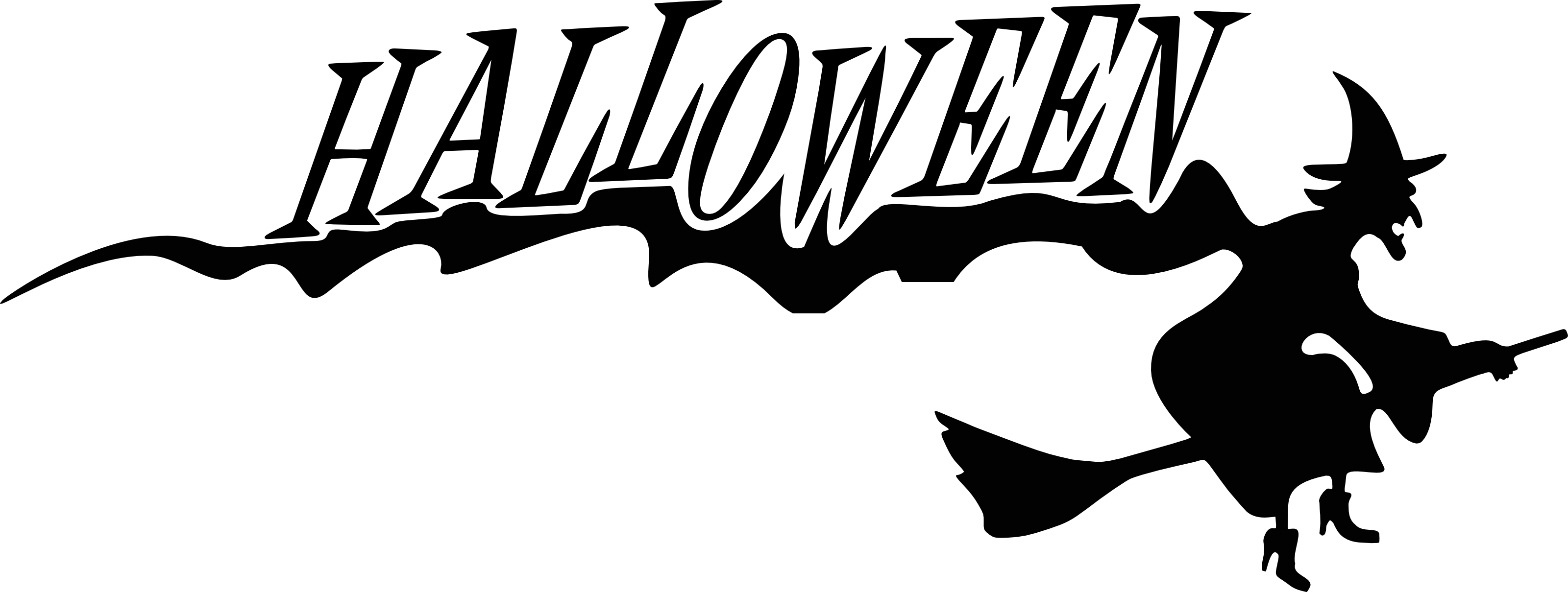 Happy Halloween Black And White Happy Halloween Clip A...