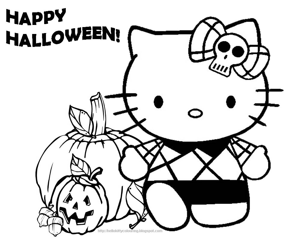 Hello Kitty Happy Halloween Coloring Pages Coloring Pages