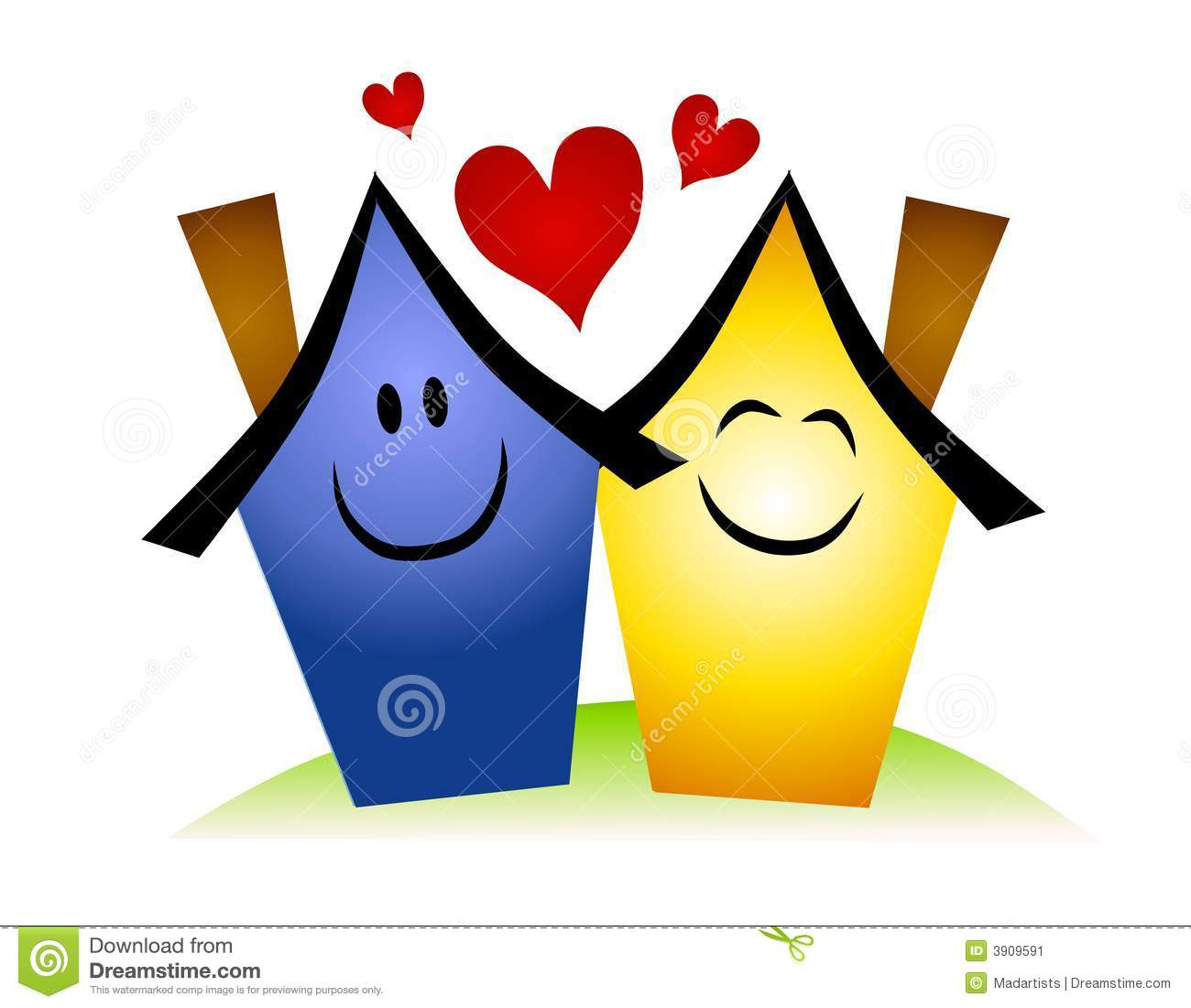 Happy House Clipart